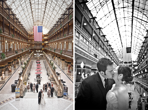 Cleveland Arcade Wedding Photography