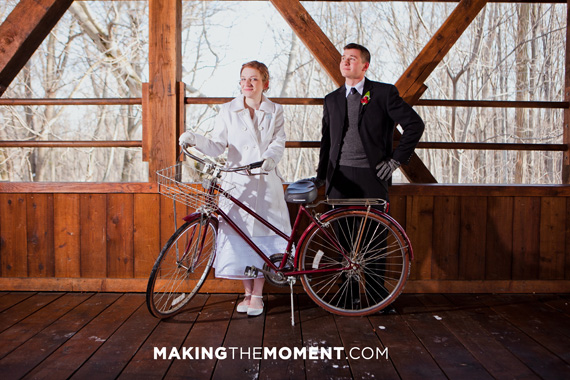 Bicycle themed Wedding Photography