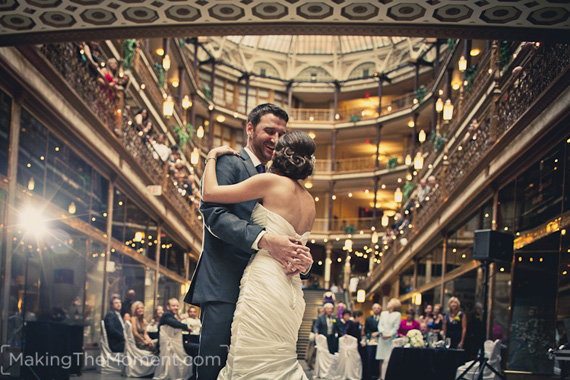 Wedding Reception at the Cleveland Arcade