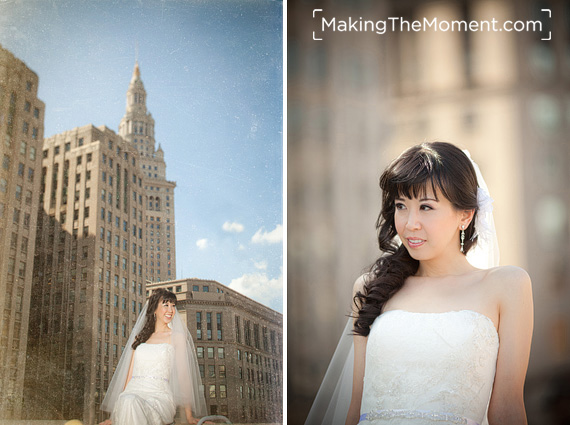 modern wedding photographer in Cleveland