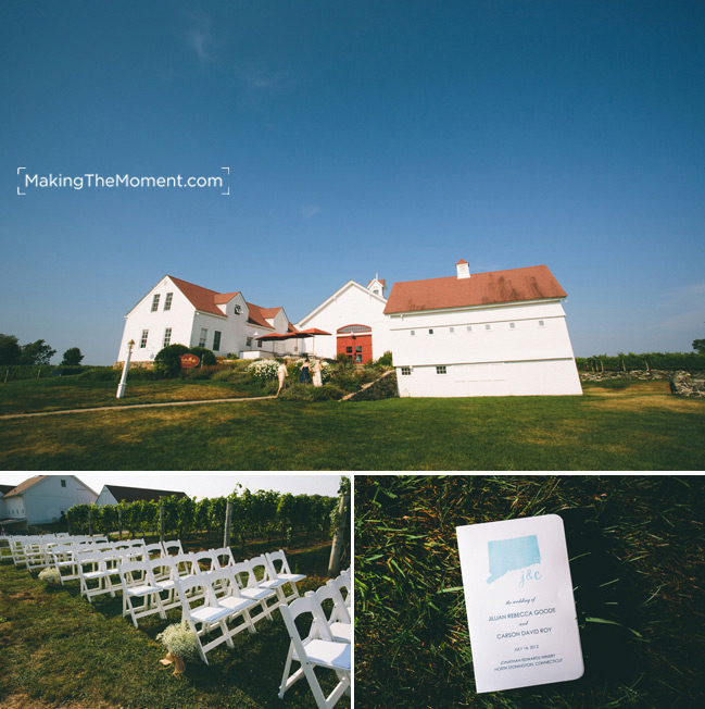 Jonathan Edwards Winery in Stonington Wedding Photography