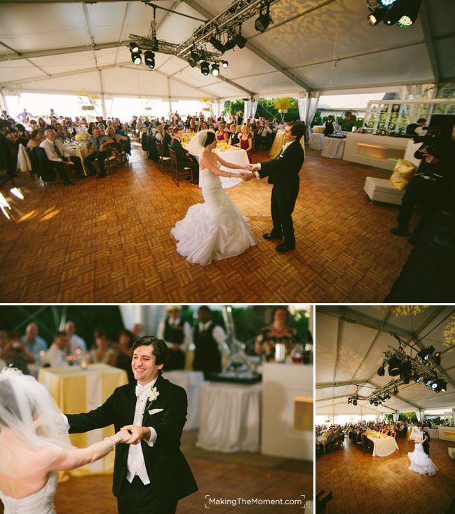 Tented wedding reception shoreby