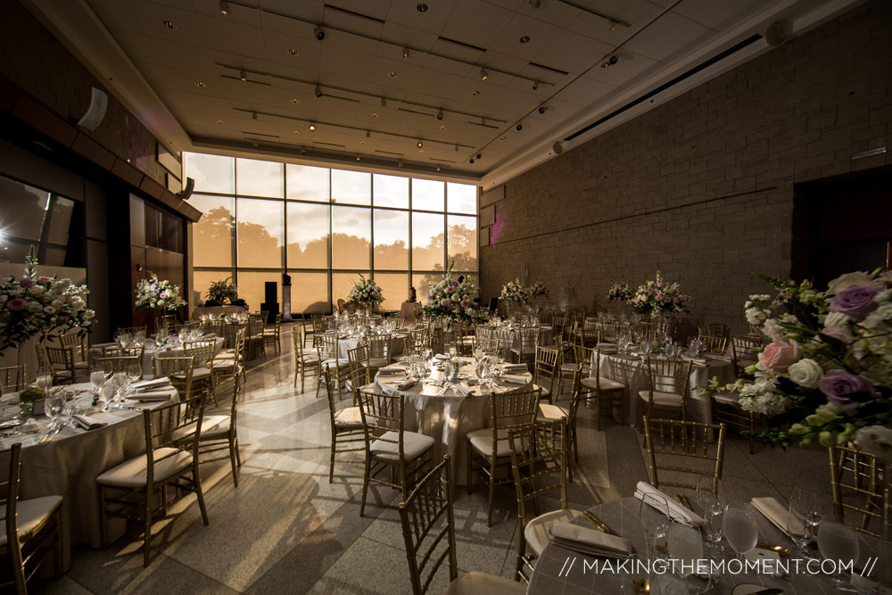 Cleveland Botanical Gardens Wedding Reception