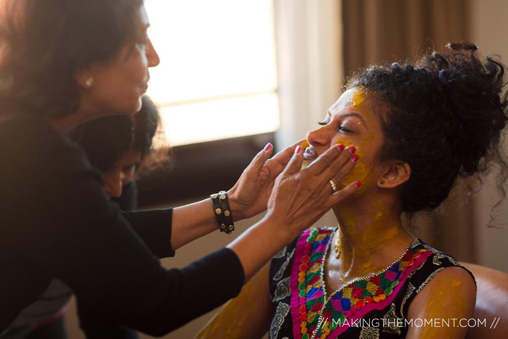 Indian Wedding Haldi Bride