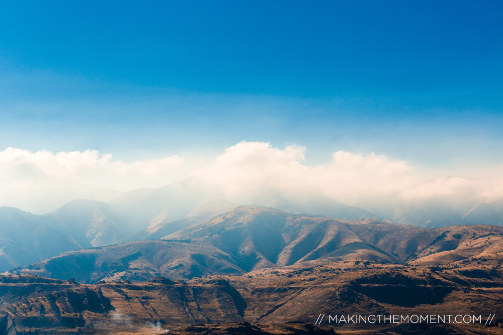 Clouds over Mountains near Park City Utah