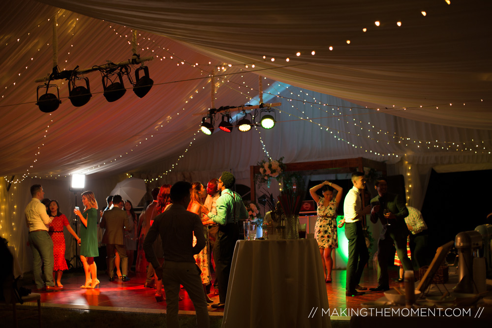 tented wedding reception cleveland