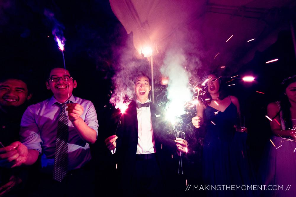 sparklers at wedding reception cleveland
