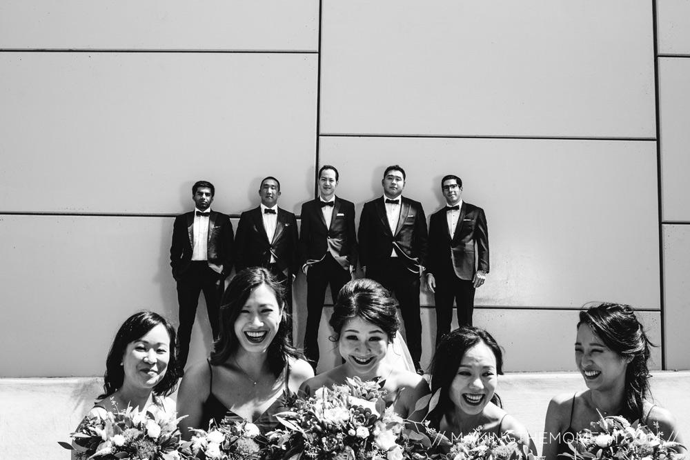 bridal party cleveland ohio wedding photographer