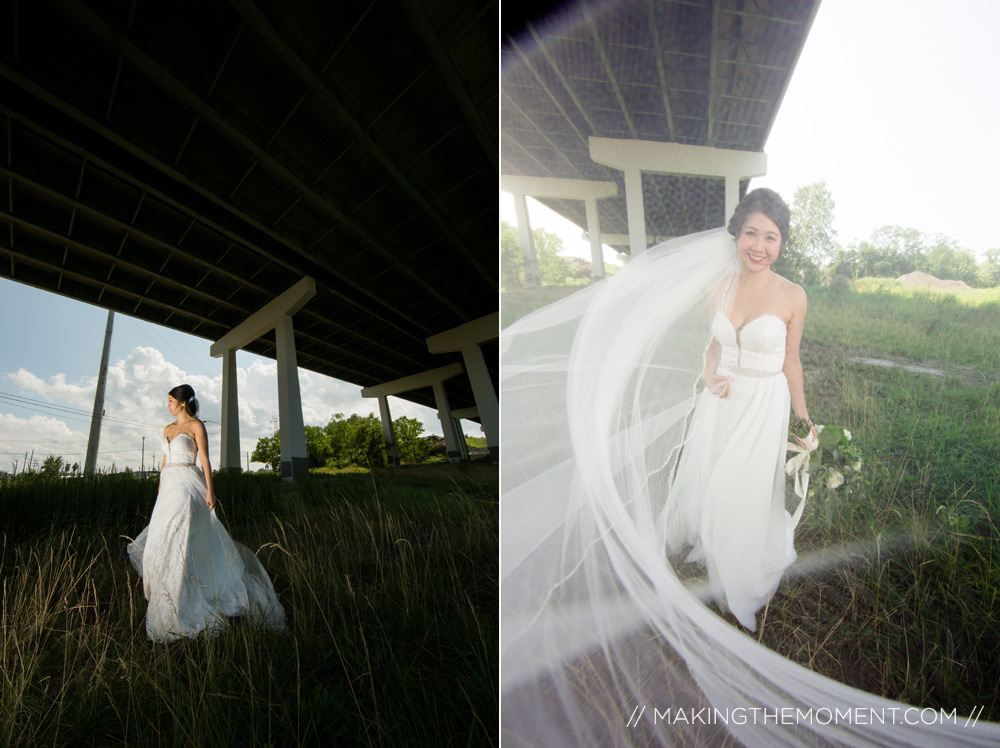 bride and wedding gown creative wedding photographer cleveland