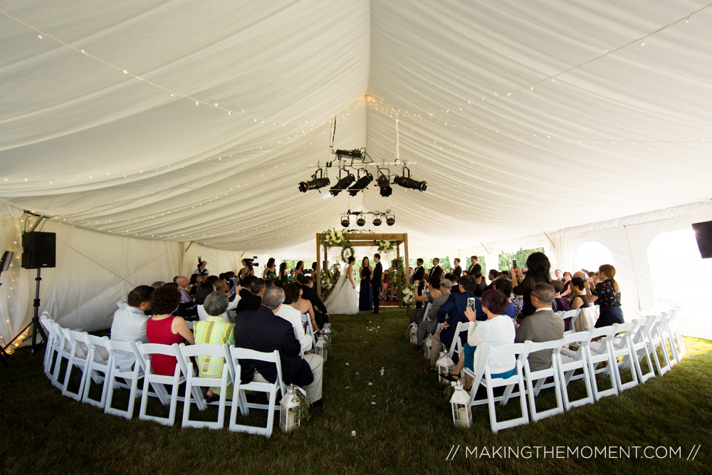 tented wedding cleveland