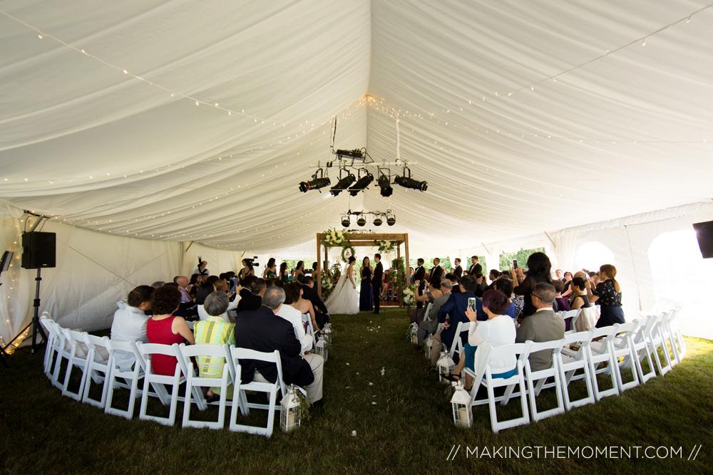 tented wedding cleveland