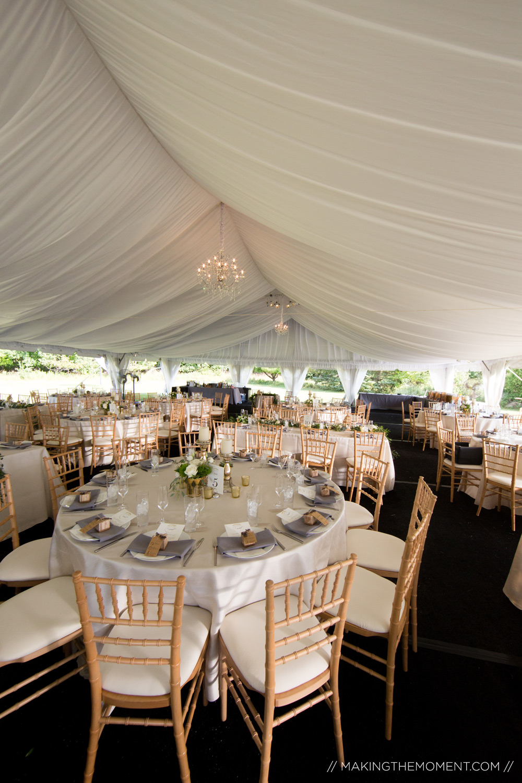 backyard tented wedding reception cleveland