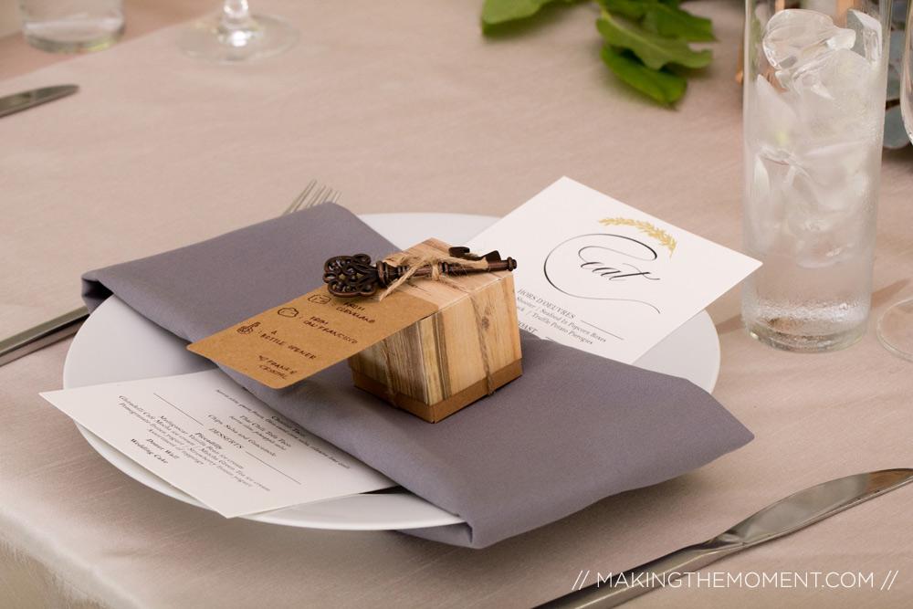 wedding reception table cleveland ohio
