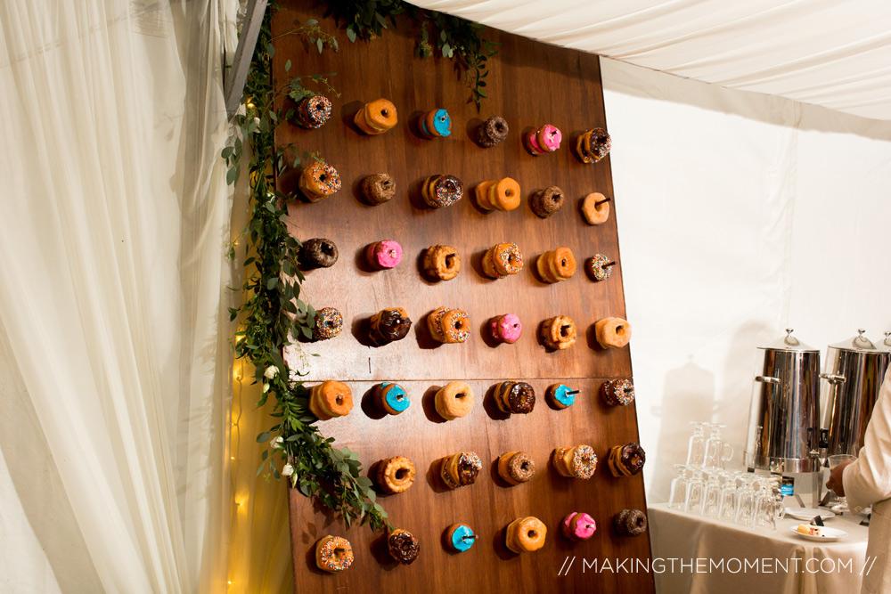donut wall cleveland wedding reception