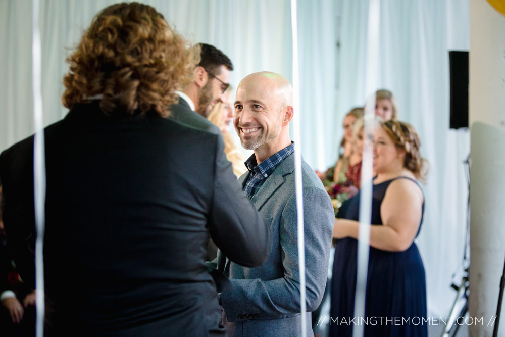 Red Space Cleveland Wedding Ceremony