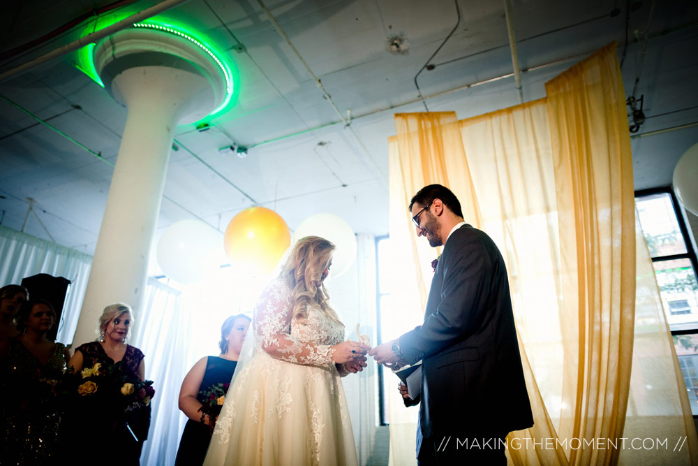 Red Space Wedding Ceremony