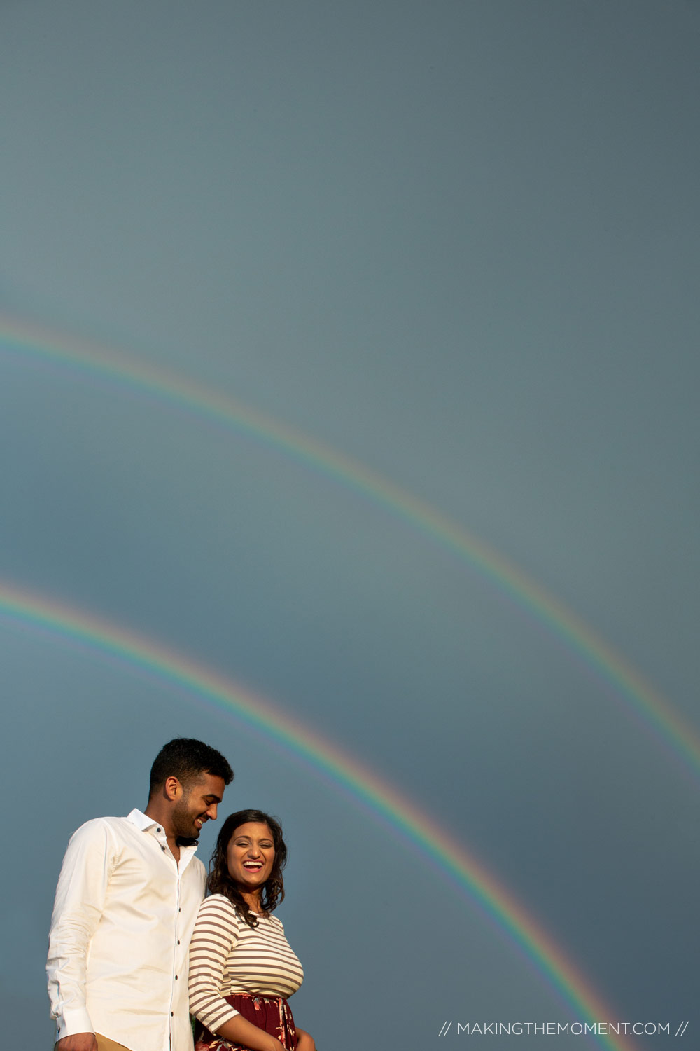 Double Rainbow Indian Engagment Session Photography Cleveland