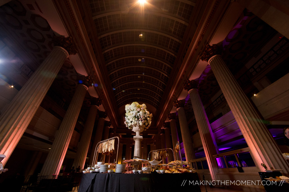 Cleveland Huntington Bank Lobby Wedding Reception