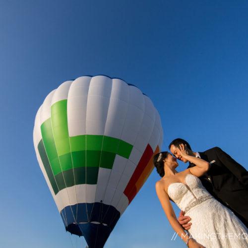hot-air balloon wedding cleveland