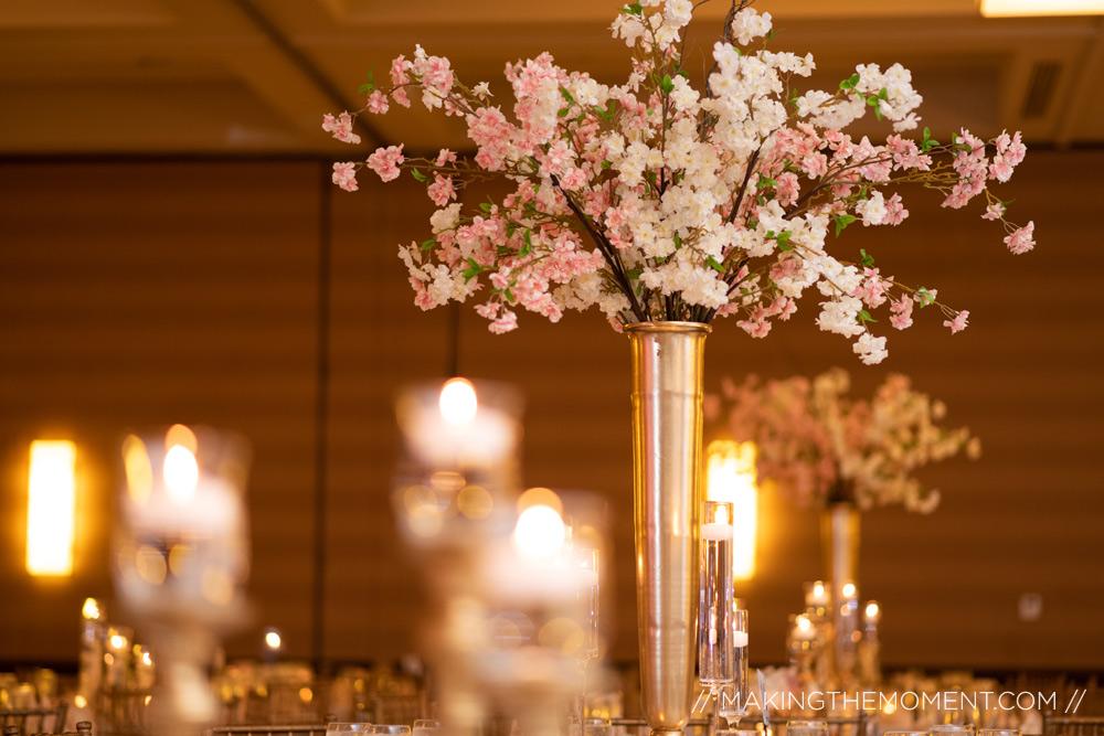 Louisville hyatt Wedding Reception flowers