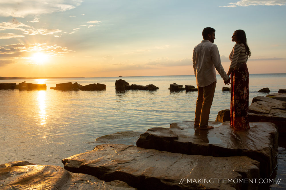 Indian engagement session photography cleveland