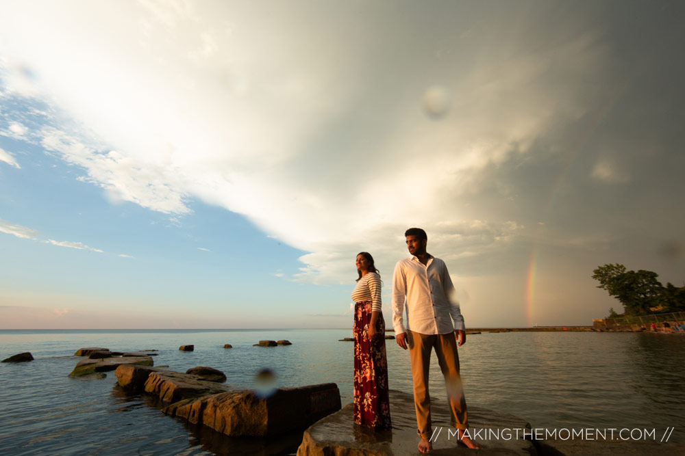 Engagement session with Rainbows