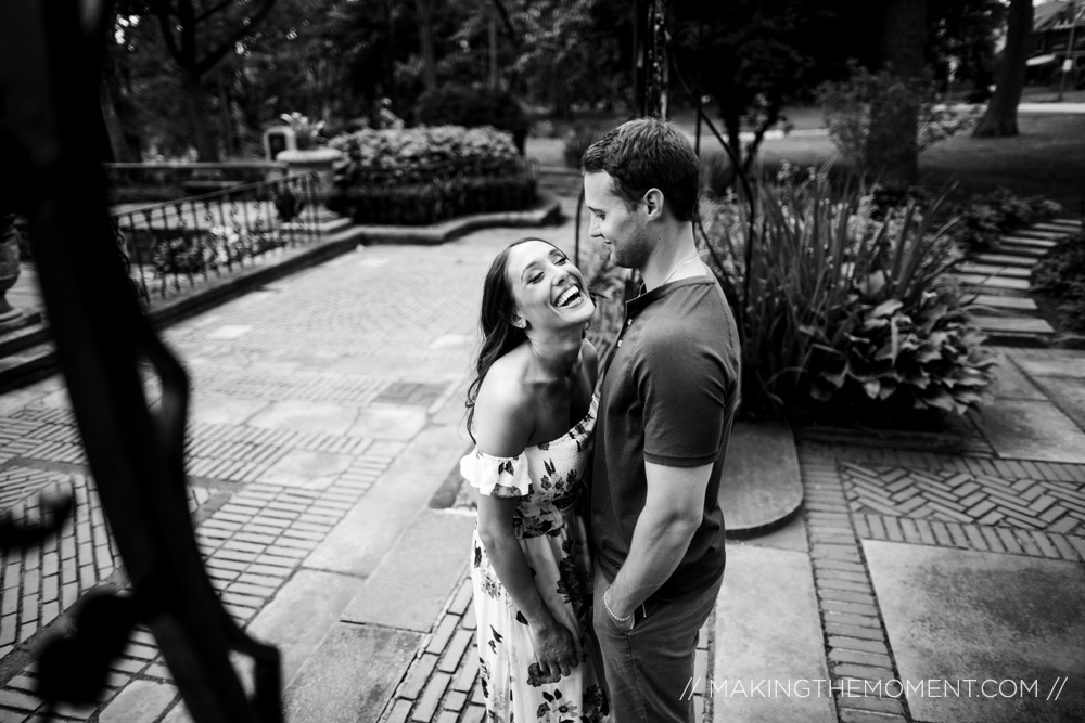 fun engagement session cleveland