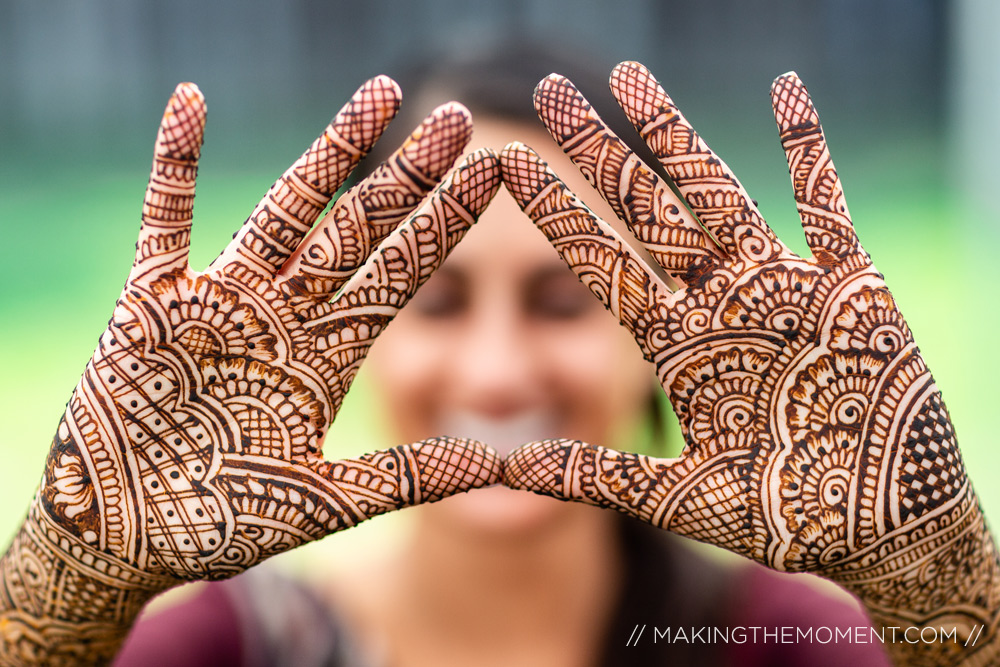 Cleveland Indian Wedding Photographer Henna