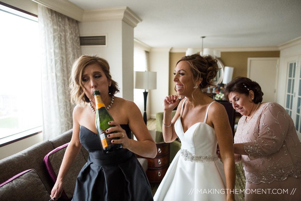 Downtown Cleveland Wedding Photographer Dress
