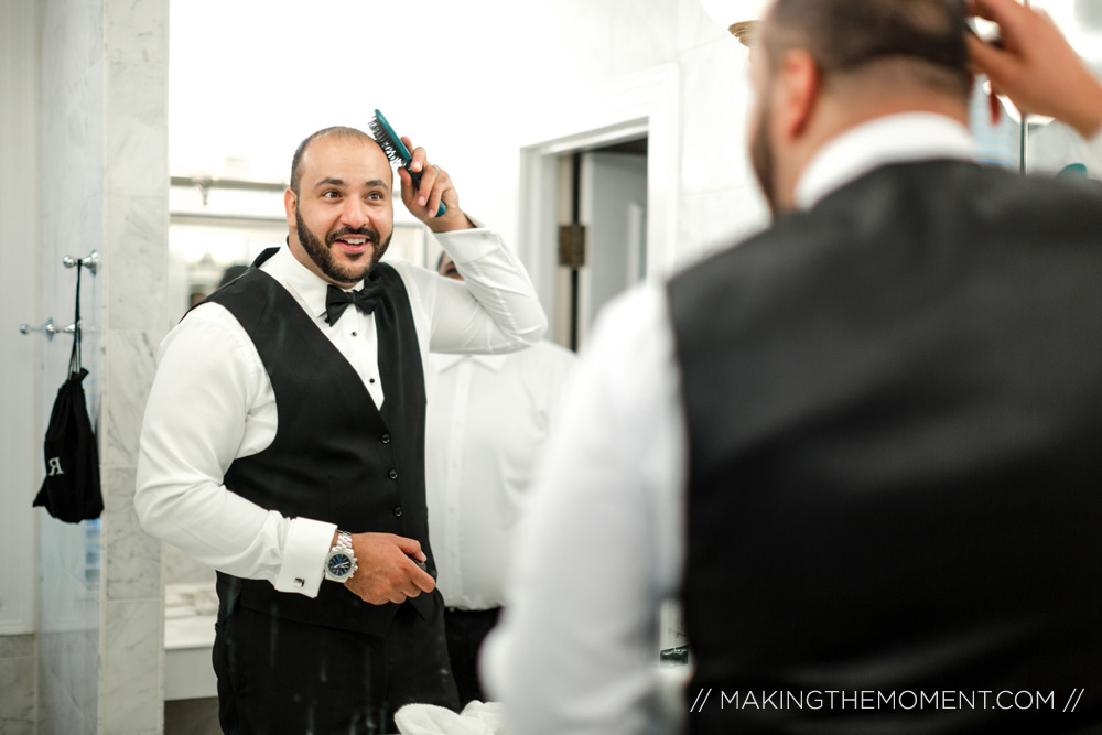 Groom Wedding Photography Cleveland