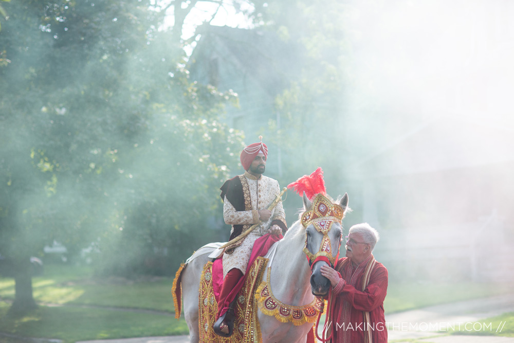 Indian Baraat Wedding Photographer Cleveland