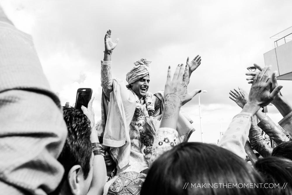 Indian Baraat Wedding Photographer Cleveland