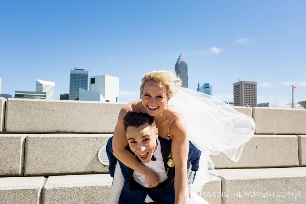 Fun Wedding Photography Downtown Hilton Cleveland