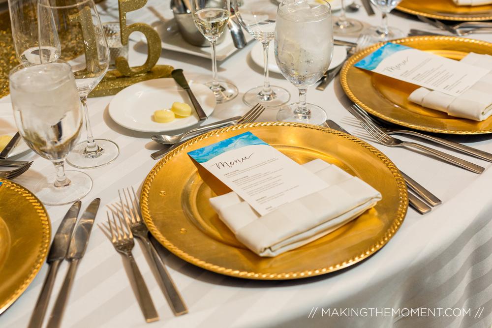 Downtown Hilton Cleveland Wedding Reception