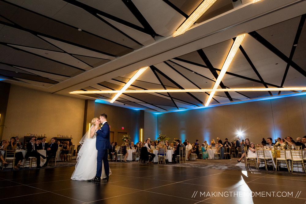 Cleveland Downtown Hilton Wedding Photographer First Dance