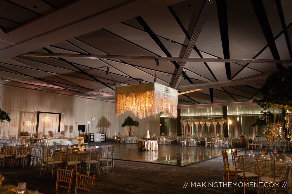 Downtown Cleveland Hilton Indian Wedding Reception
