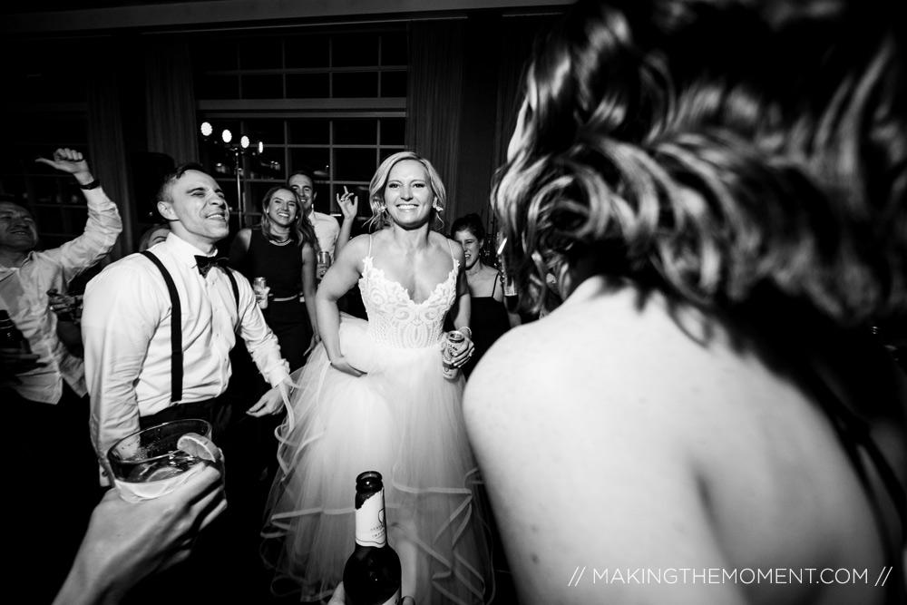 Fun Wedding Reception Photography Cleveland Hilton