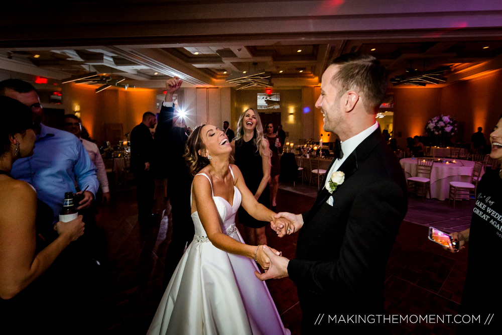 Fun Wedding Reception Photography Cleveland