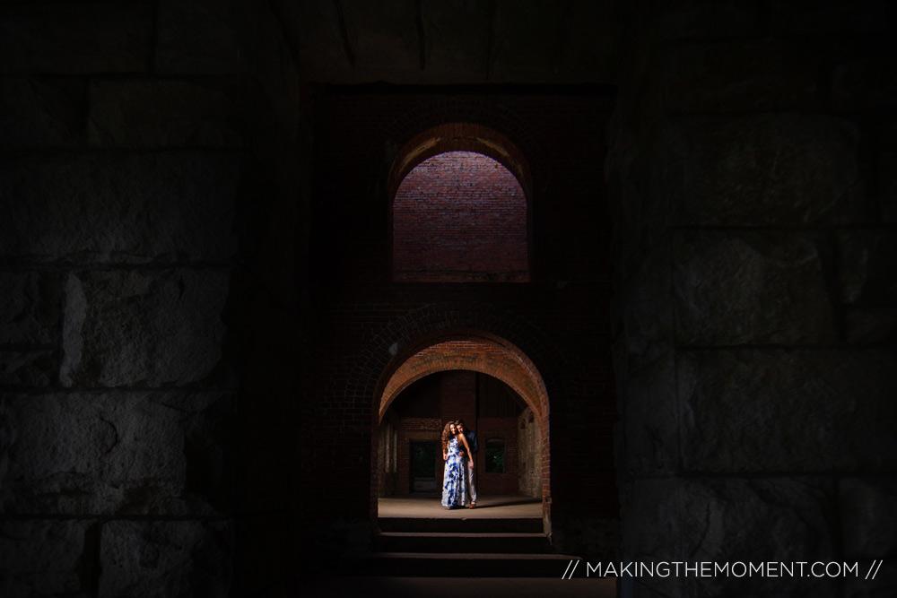 Dramatic Cleveland Engagement Session Photographer