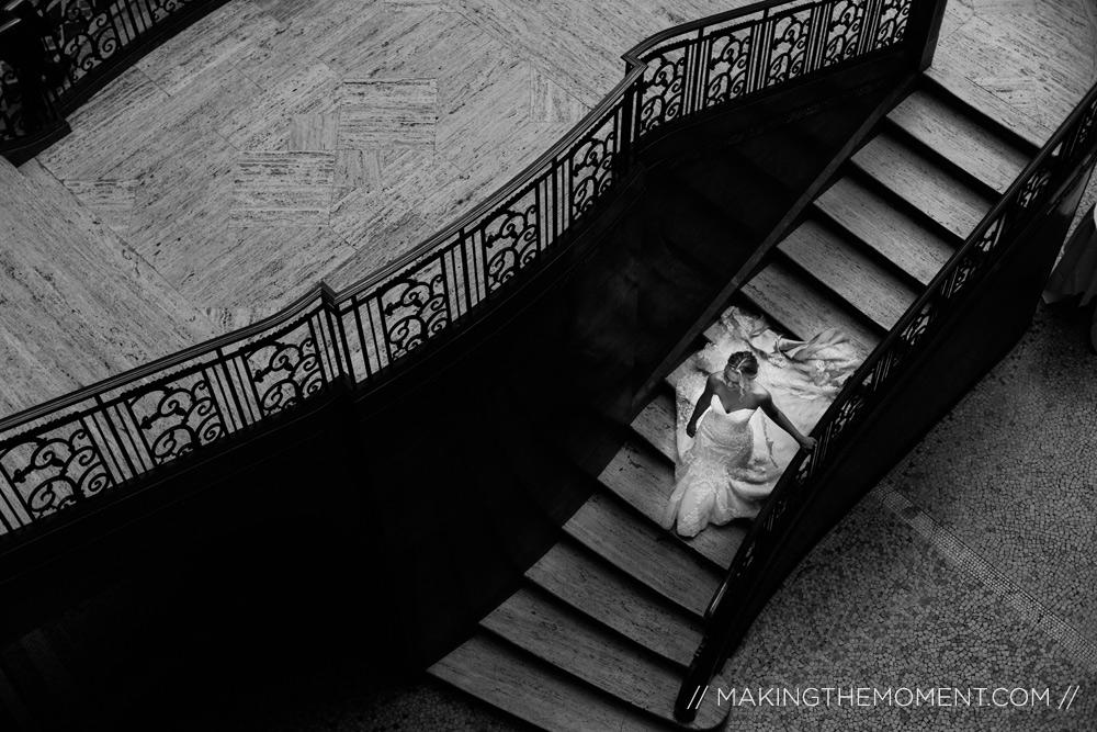 Dramatic Cleveland Wedding Photographer