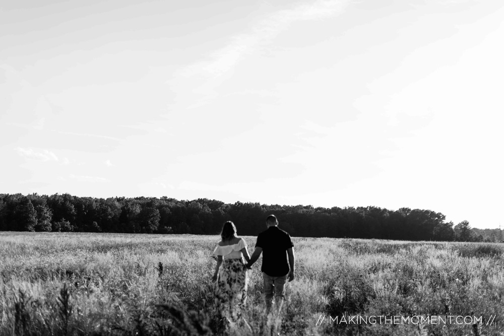Engagement Session Photographer Cleveland Black and White