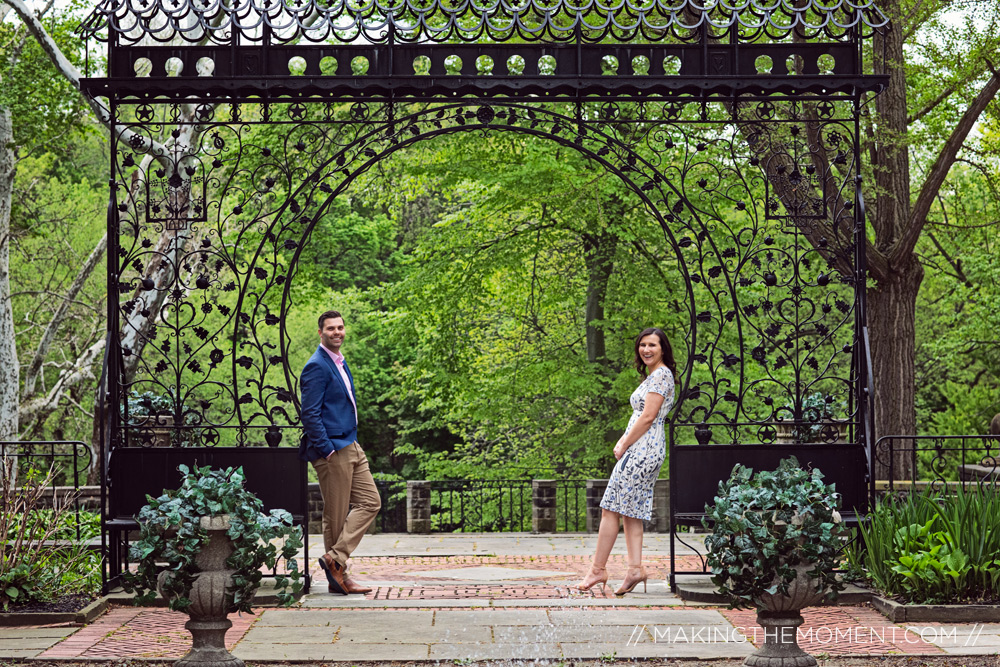 Engagement Photographer Cleveland Cultural Gardens