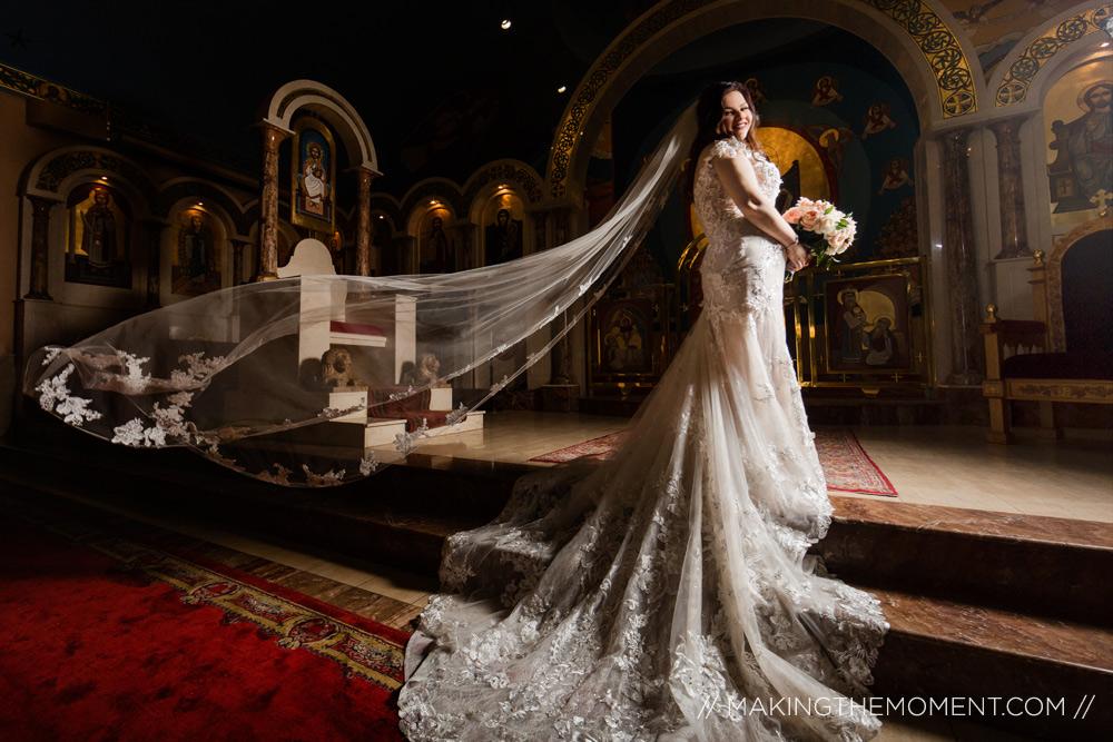 Cleveland Wedding Photographer Big Veil
