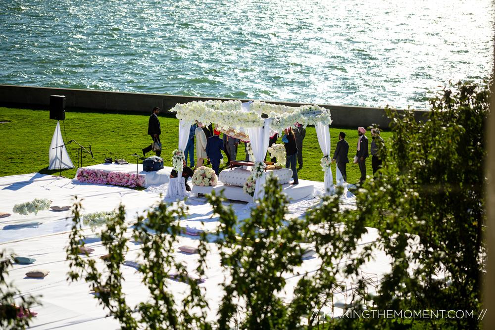 war memorial michigan outdoor wedding