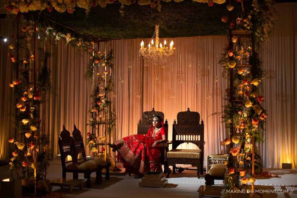 Artistic Indian Bride Mandap Cleveland