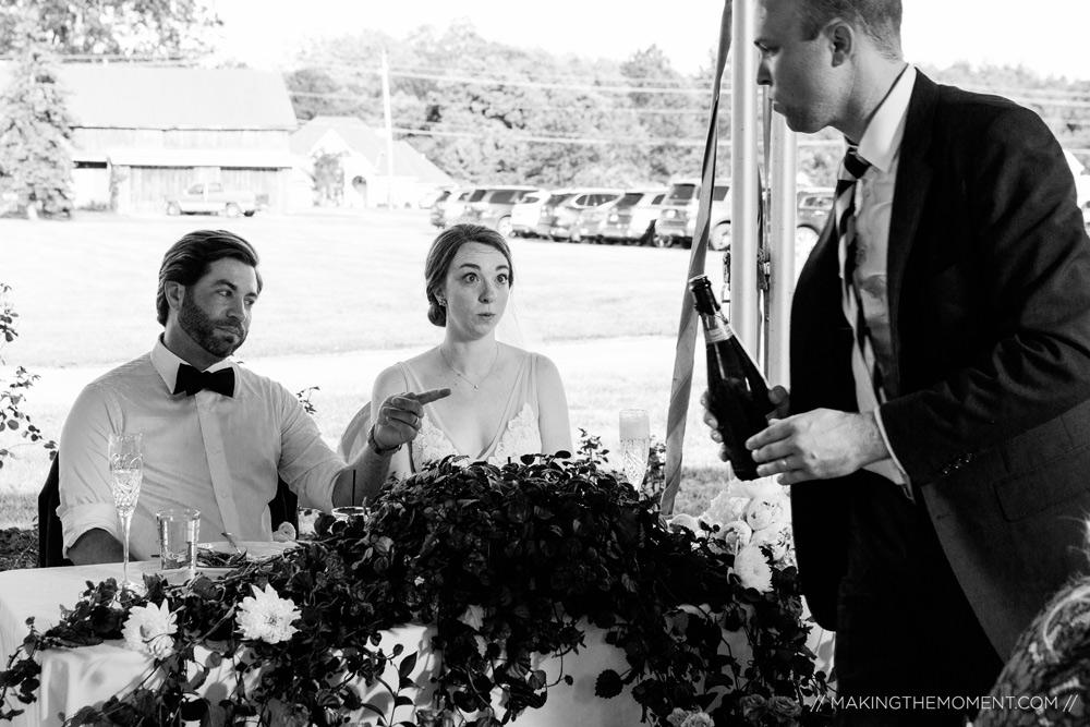 Photojournalistic Wedding Reception Photographer Cleveland
