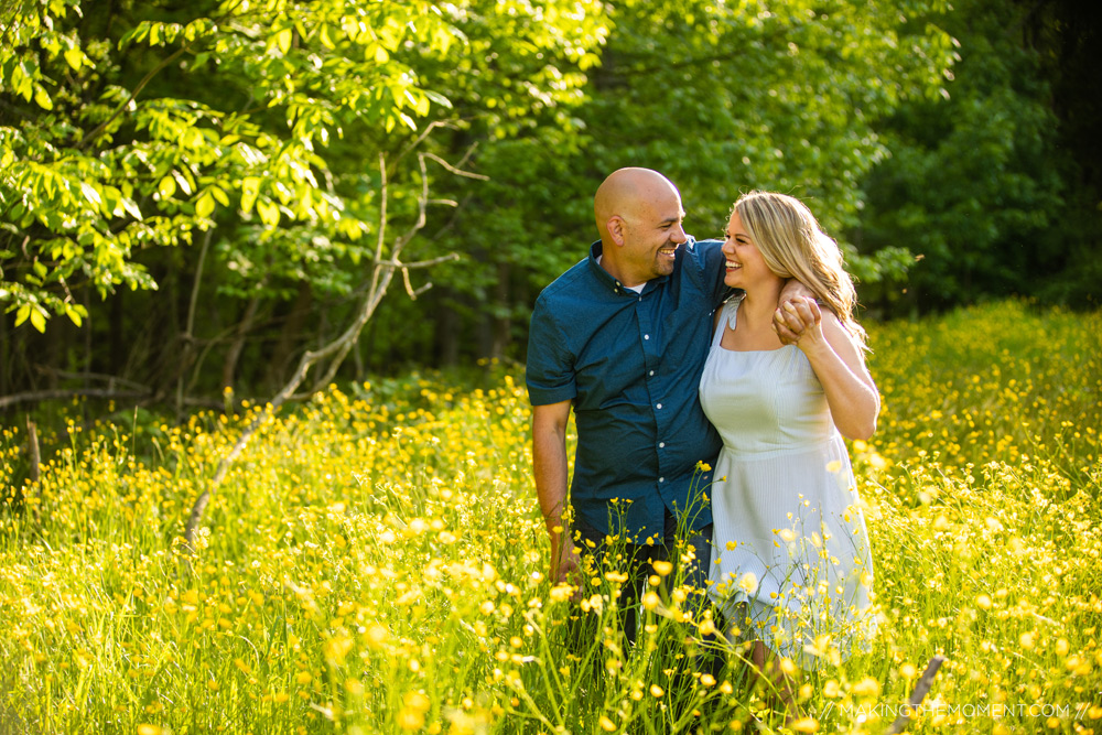 Fun Nature Engagement Session Cleveland