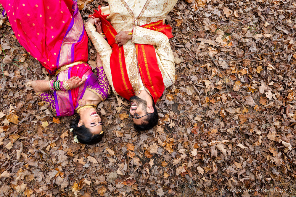 Artistic Fall Indian Wedding Photographer Cleveland