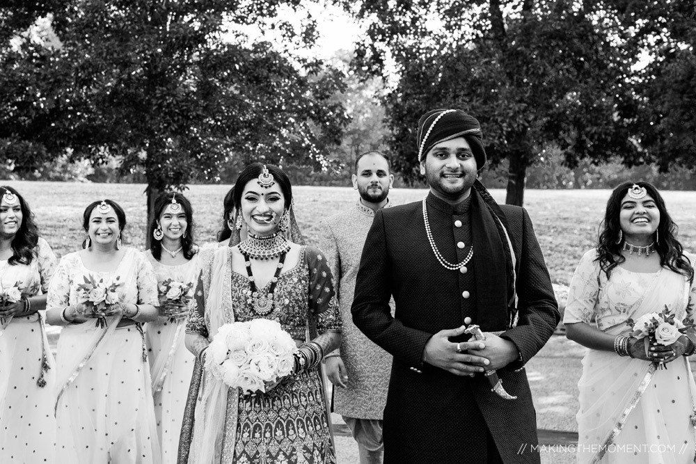 Indian Wedding Bridal Party Cleveland