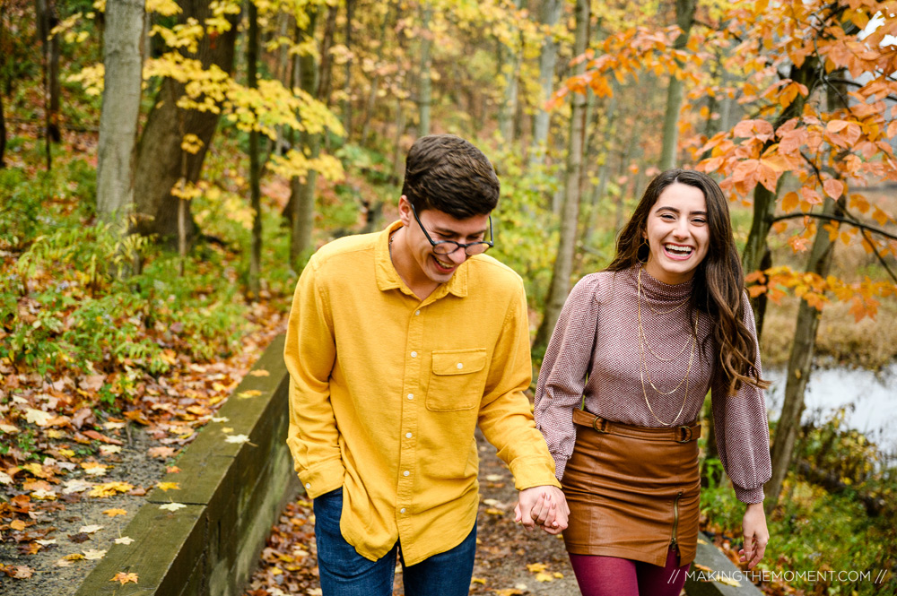Fall Nature Engagement Session Cleveland Photographer